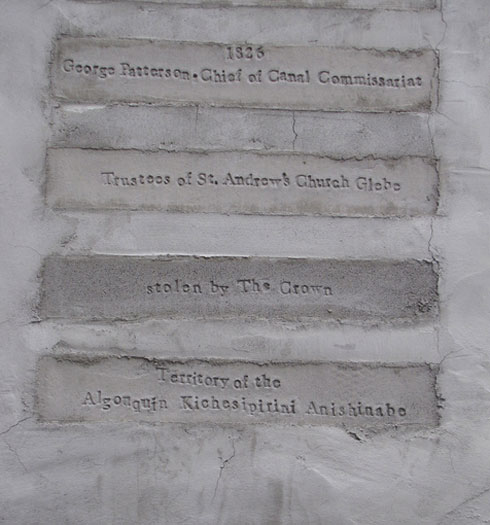 engraved names of previous owners